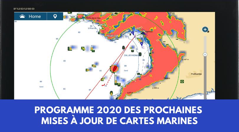 Programme 2020 des prochaines mises à jour de cartes marines