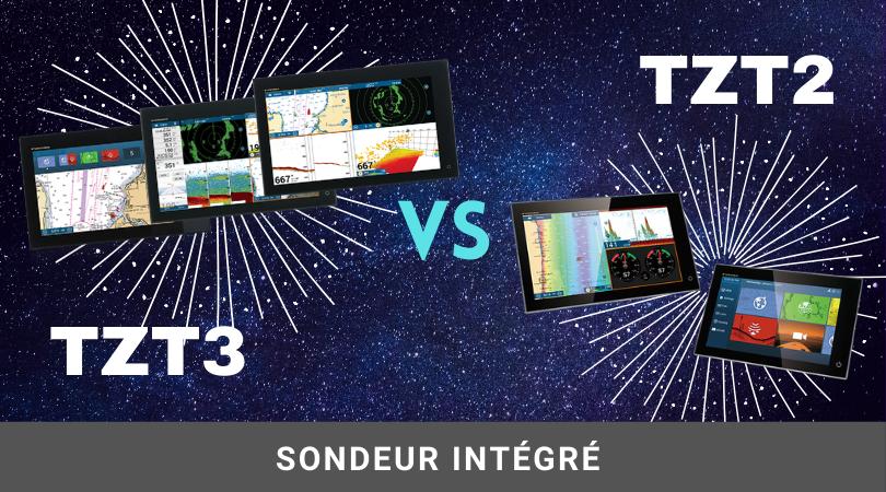 NavNet TZtouch 2 vs TZtouch 3 : le sondeur intégré