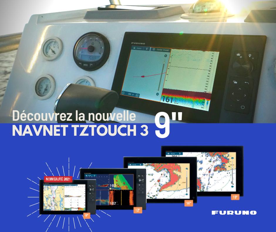 Furuno lance un nouveau combiné traceur-gps-sondeur TZT3 en 9